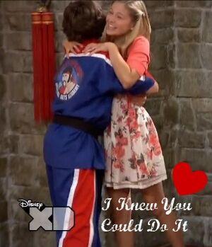 Jack and kim hug