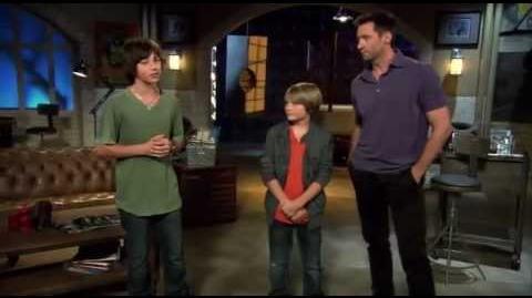 "Leo Howard interviews Dakota Goyo & Hugh Jackman about ""Real Steel"" 2011"