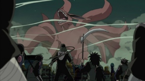 Group Hiruzen vs Kurama