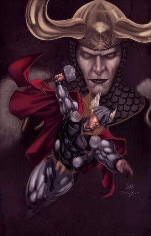 File:Thor Loki by SpiderGuile by northchavis.jpg