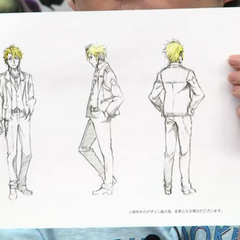 Anime full body concept art