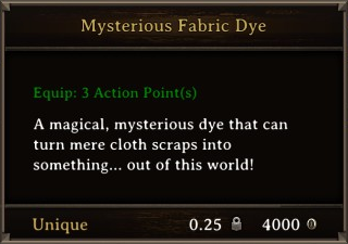 DOS Items CFT Mysterious Fabric Dye Stats
