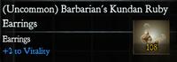 Barbarian's Kundan Ruby Earings