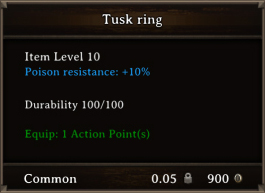 DOS Items CFTX 10.5 Tusk Ring