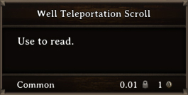 DOS Items Quest Well Teleportation Scroll