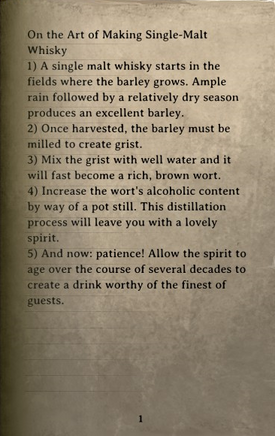 DOS Items Books The Art of Making Whisky Page