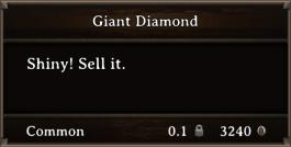 DOS Items Precious Giant Diamond