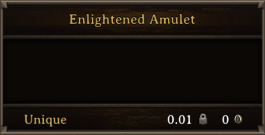 DOS Items Unique Enlightened Amulet