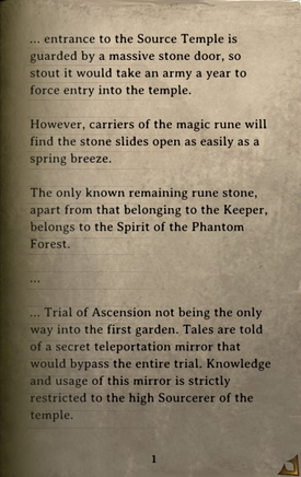 DOS Items Books Secrets of the Source Temple Page