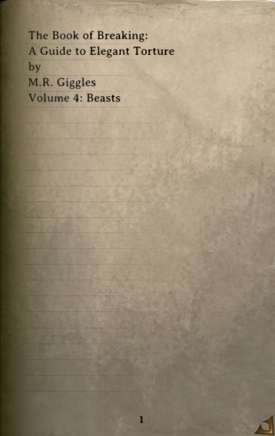 DOS Items Books A Guide to Elegant Torture, Volume IV Page1
