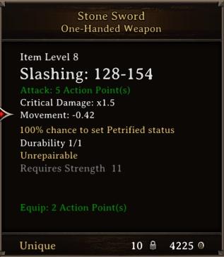 DOS Items Unique Stone Sword