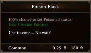 DOS Items Pots Poison Flask 2 Stats