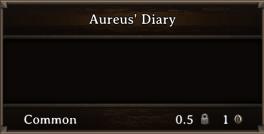 DOS Items Quest Aureus' Diary