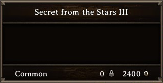 DOS Items Books Secret from the Stars III Stats