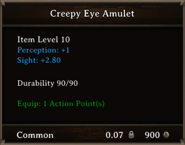 DOS Items CFTX 10.5 Creepy Eye Amulet