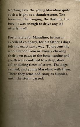 DOS Items Books Maradino's Stormy Nights Page