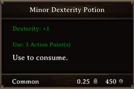 DOS Items Pots Minor Dexterity Potion