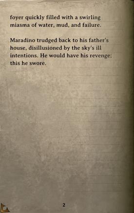DOS Items Books Maradino's Heavy Rains Page2