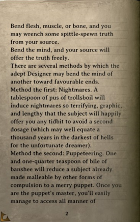 DOS Items Books A Guide to Elegant Torture, Volume II Page2