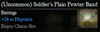 Soldier's Plain Pewter Earings