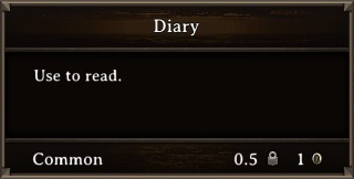 DOS Items Books Zombie Dog Owner's Diary Stats