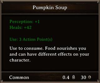 DOS Items Food Pumpkin Soup Stats