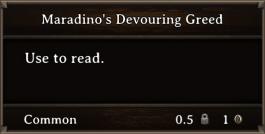 DOS Items Books Maradino's Devouring Greed