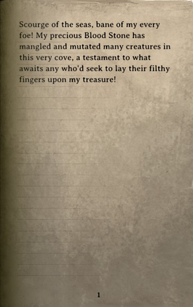 DOS Items Books Pontius' Note Page