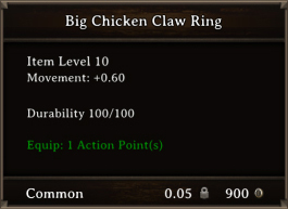DOS Items CFTX 10.5 Big Chicken Claw Ring