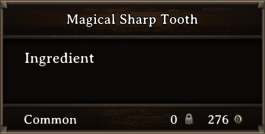 DOS Items CFT Magical Sharp Tooth