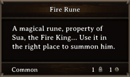 DOS Items Quest Fire Rune