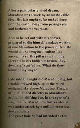 DOS Items Books Maradino's Heavy Rains Page1