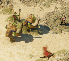 Orc fight beach
