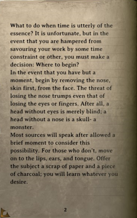 DOS Items Books A Guide to Elegant Torture, Volume III Page2