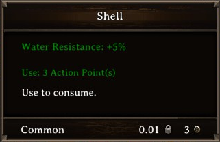 DOS Items Food Shell Stats