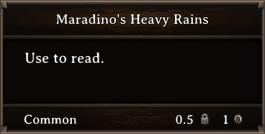 DOS Items Books Maradino's Heavy Rains