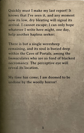 DOS Items Books The Last Weresheep Page
