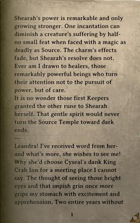 DOS Items Books Zandalor's Journal Page1