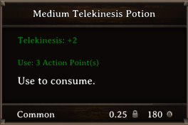 DOS Items Pots Medium Telekinesis Potion