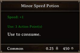 DOS Items Pots Minor Speed Potion