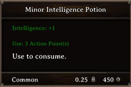 DOS Items Pots Minor Intelligence Potion