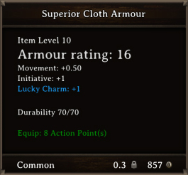 DOS Items CFTX 10.5 Superior Cloth Armour