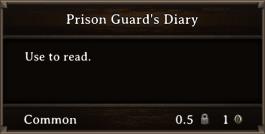 DOS Items Books Prison Guard's Diary