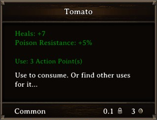 DOS Items Food Tomato Stats