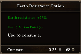 DOS Items Pots Earth Resistance Potion