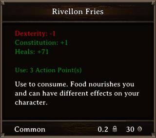 DOS Items Food Rivellon Fries Stats