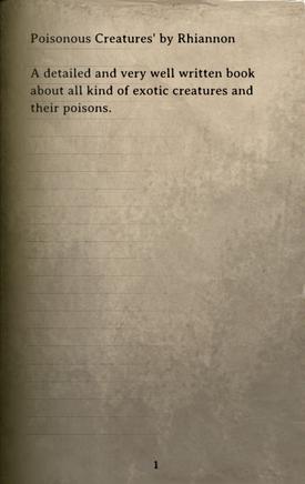 DOS Items Books Poisonous Creatures Page