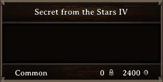 DOS Items Books Secret from the Stars IV Stats