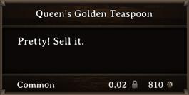 DOS Items Precious Queen's Golden Teaspoon
