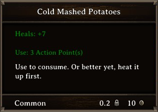 DOS Items Food Cold Mashed Potatoes Stats